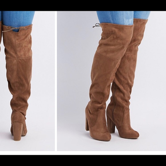 Charlotte Russe Shoes Wide Calf Thigh High Boots Poshmark